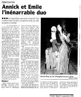 OLCA-Annick Frey-'s Gheimnis vùm àlte Emil-Annick et Emile, l'inénarrable duo-D.R