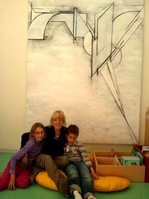 Avec Christiane Vallin, Alexandra et Kevin
