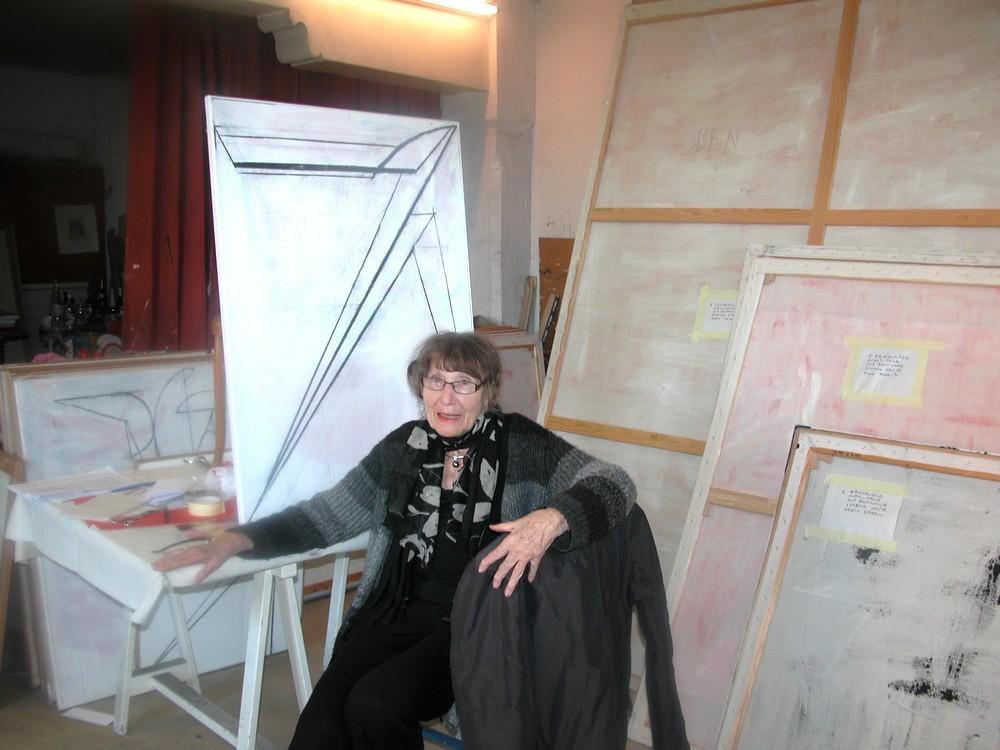 Cristina Spoerri dans son atelier