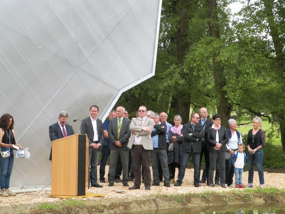 Inauguration papillon discours du maire
