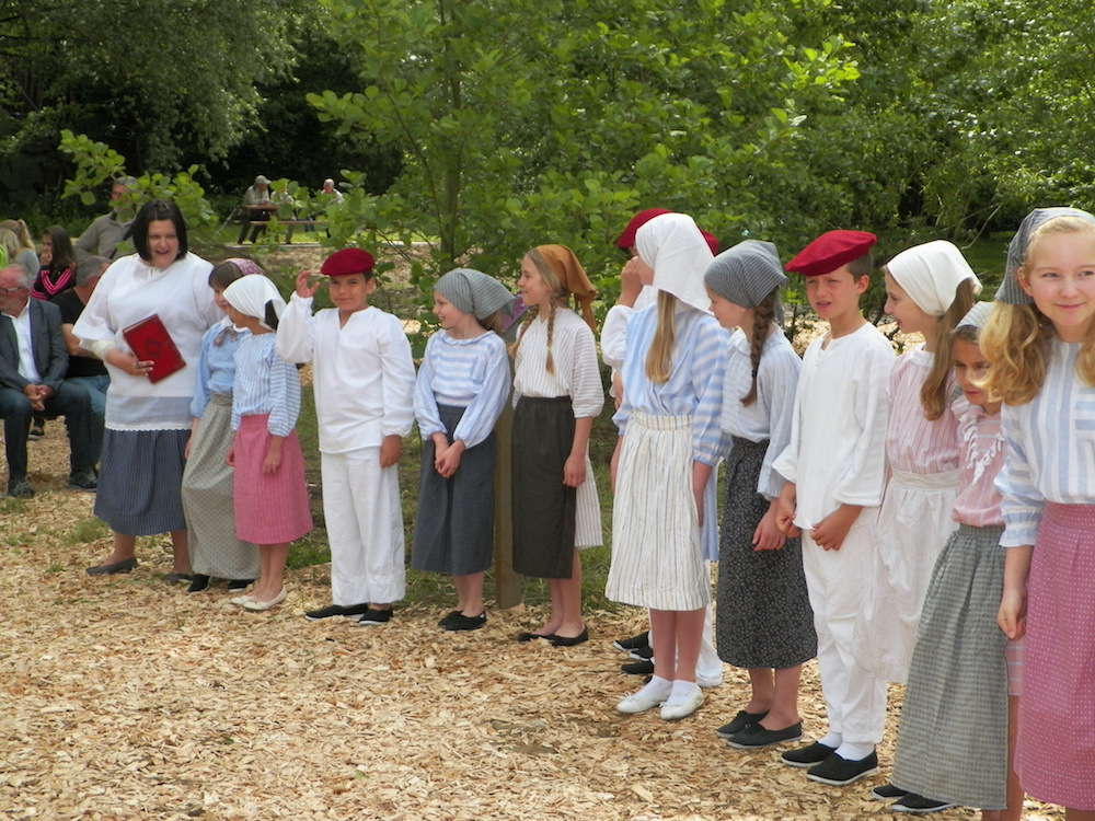 Inauguration papillon spectacle des enfants