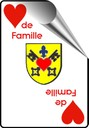 Logo coeur de famille