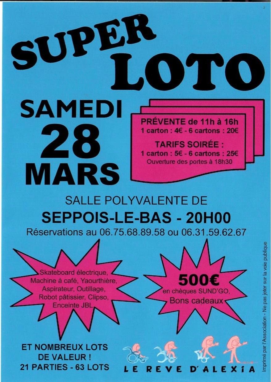 Affiche loto le 28 mars 2020