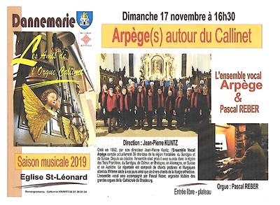 Affiche Arpège Dannemarie 17 nov 19