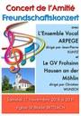 Concert de l'amitié le 17 novembre 2018 avec Arpège