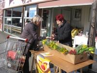 Opération Tulipes à coeur devant Ecomarché