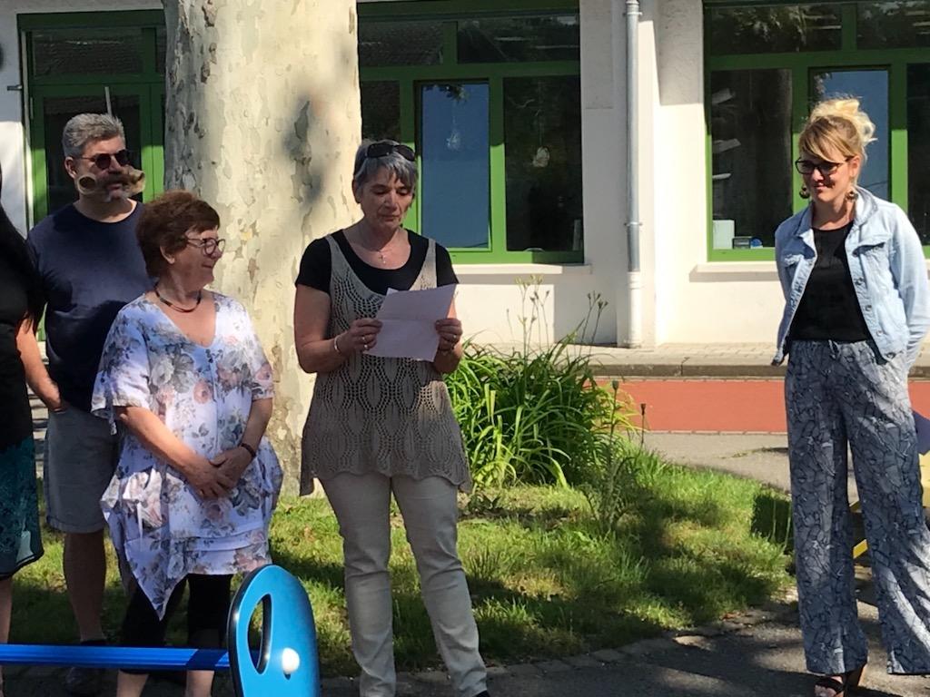 Inauguration jeu école 4-discours de Thérèse Schmitt