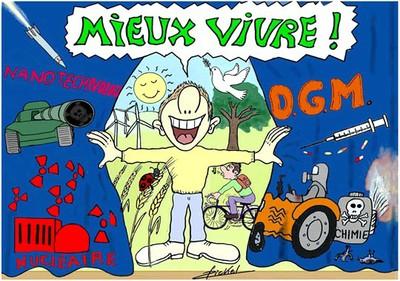 Mieux vivre Carte postale René Bickel