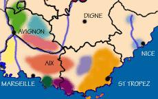Carte des vins du Lubéron