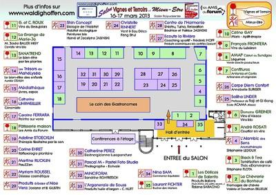 Plan du Salon VTME 2013 à Waldighoffen
