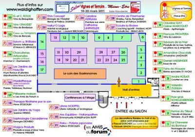 Plan du Salon VTME 2011 à Waldighoffen