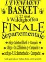 Finales départementales de basket à Waldighoffen le samedi 22 mai.