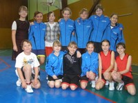 Photo des benjamines du Basket-club CSSPP Waldighoffen qui ont participé au camp des 14 et 15 avril