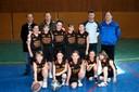 Les poussines du basket-club CSSPP Waldighoffen dans leur nouvelle tenue.