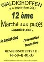 Affiche du 12 ème marché aux puces de Waldighoffen