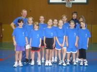 Photo des poussines du basket-club CSSPP Waldighoffen qui ont participé au camp de basket.