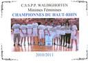 Les championnes du Haut-Rhin minimes CSSPP Waldighoffen