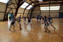 Les minimes du basket-club CSSPP Waldighoffen lors de l'échauffement.