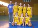 L'équipe des benjamines 1 du basket-club CSSPP Waldighoffen.