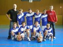 L'équipe des benjamins 1 du basket-club CSSPP Waldighoffen.