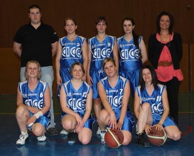 L'équipe des seniors filles du basket-club CSSPP Waldighoffen.