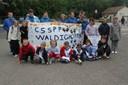L'école de basket du basket-club CSSPP Waldighoffen qui a participé à la fete du mini-basket à Zillisheim