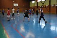 Camp de basket minimes jeu placé