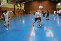 Camp de basket minimes travail de la contre-attaque.