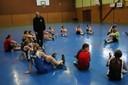 Camp de basket benjamins-benjamines Chloé à la manoeuvre