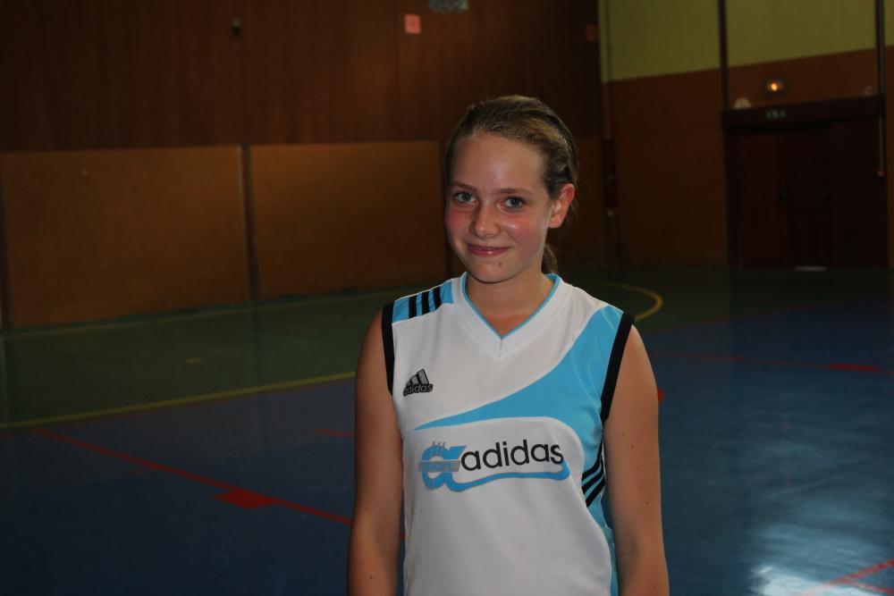 Morgane Jacquin en sélection départementale benjamines.
