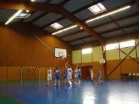 Joueuses en action match minimes région - sélection benjamines du Haut-Rhin le 18 janvier à Waldighoffen