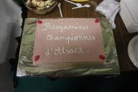Fête de fin de saison - gâteau en honneur des benjamines