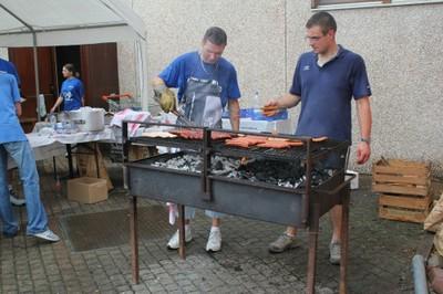 Au barbecue marché aux puces à Waldighoffen le 4 septembre 2011