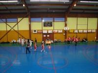 Tableau d'affichage match minimes région samedi 4 février à Waldighoffen.