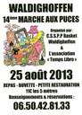 14ème marché aux puces à Waldighoffen le dimanche 25 aout 2013.