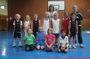 Le groupe des mini-poussins du basket-club CSSPP Waldighoffen.