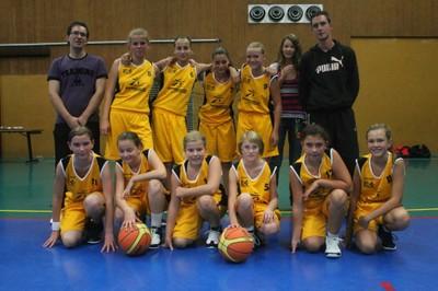 L'équipe des benjamines du basket-club CSSPP Waldighoffen de la saison 2012/2013