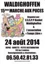 Affiche du 15ème marché aux puces le dimanche 24 aout 2014 à Waldighoffen.