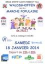 Marche de nuit du samedi 18 janvier 2014.