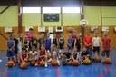 Le groupe des mini-poussins du basket-club CSSPP Waldighoffen saison 2014-2015.