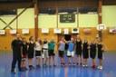 Le groupe des minimes féminines du basket-club CSSPP Waldighoffen saison 2014/2015.