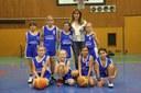 L'équipe des poussines du basket-club CSSPP Waldighoffen saison 2014/2015.