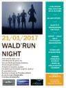 Affiche de la 1ère Wald'run night le 21 janvier 2017.