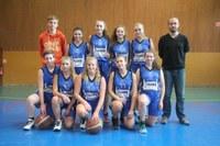L'équipe des cadettes du basket-club CSSPP Waldighoffen de la saison 2016/2017