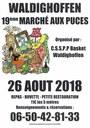 Affiche marché aux puces du dimanche 26 Aout 2018.
