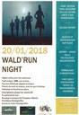 Affiche trail de nuit du 20 janvier 2018 à Waldighoffen.