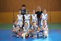 L'équipe des mini-poussins 2 du basket-club CSSPP Waldighoffen saison 2017/2018.