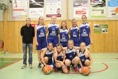 L'équipe des minimes filles du basket-club CSSPP Waldighoffen saison 2017/2018.