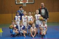 L'équipe des mini-poussins du basket-club CSSPP Waldighoffen saison 2018/2019.