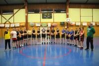 Le groupe des cadettes-seniors féminines du basket-club CSSPP Waldighoffen.